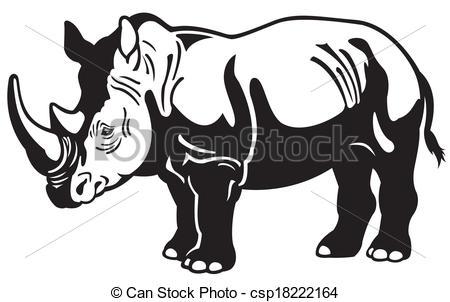 Drawn rhino clipart Rhinoceros 119 art Fans Clipart