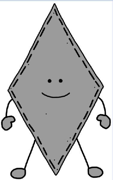 Rhomb clipart #6