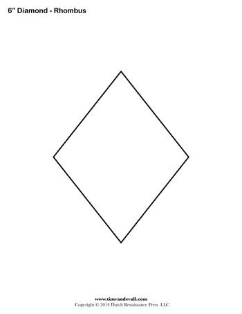 Diamond clipart rhombus Shapes Printable Blank Rhombus PDFs