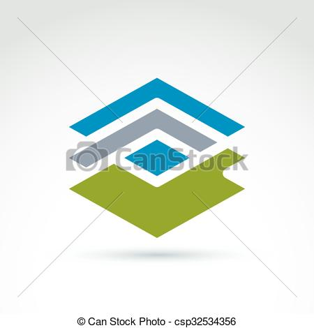 Rhomb clipart geometry Green complex Lines Clipart Vector