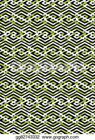 Rhomb clipart geometry Continuous zigzag with black endless