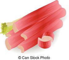 Rhubarb clipart Art Vector isolated Rhubarb vector