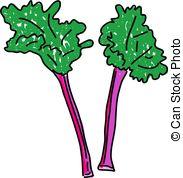 Rhubarb clipart In white isolated on alekup6/900;