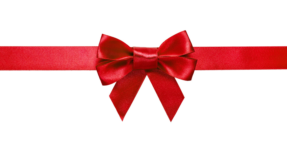Bow Tie clipart gift bow Art Clipartix Red ribbon clipart