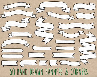 Drawn ribbon clipart Banners Banners Hand and Hand