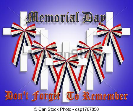 Ribbon clipart memorial day #7