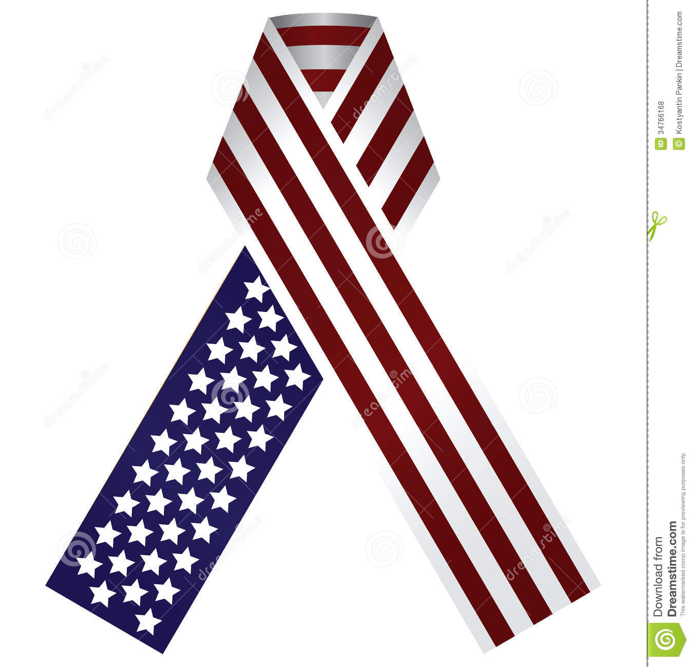 Ribbon clipart memorial day #6