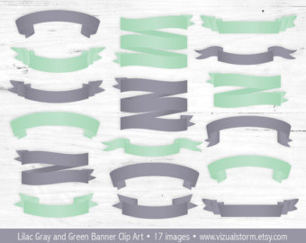 Ribbon clipart mint #8