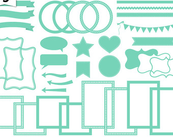 Ribbon clipart mint #14