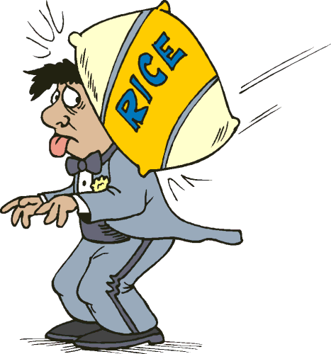Rice clipart funny Png /holiday/wedding/funny /hit_with_sack_of_rice with sack