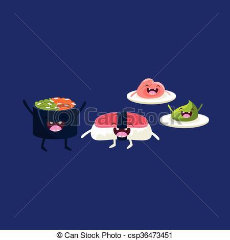 Rice clipart funny Clipart Cartoon  csp36473451 Sushi