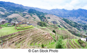 Rice Terrace clipart japanese rice Part Dazhai country hills in