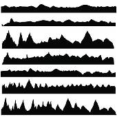 Mountain Ridge clipart Art GoGraph Royalty silhouettes mountain