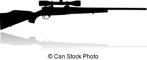 Sniper clipart cartoon Vector background   rifle