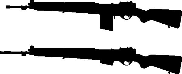 Assault Rifle clipart gun silhouette Free Cliparts Clip Silhouette Download