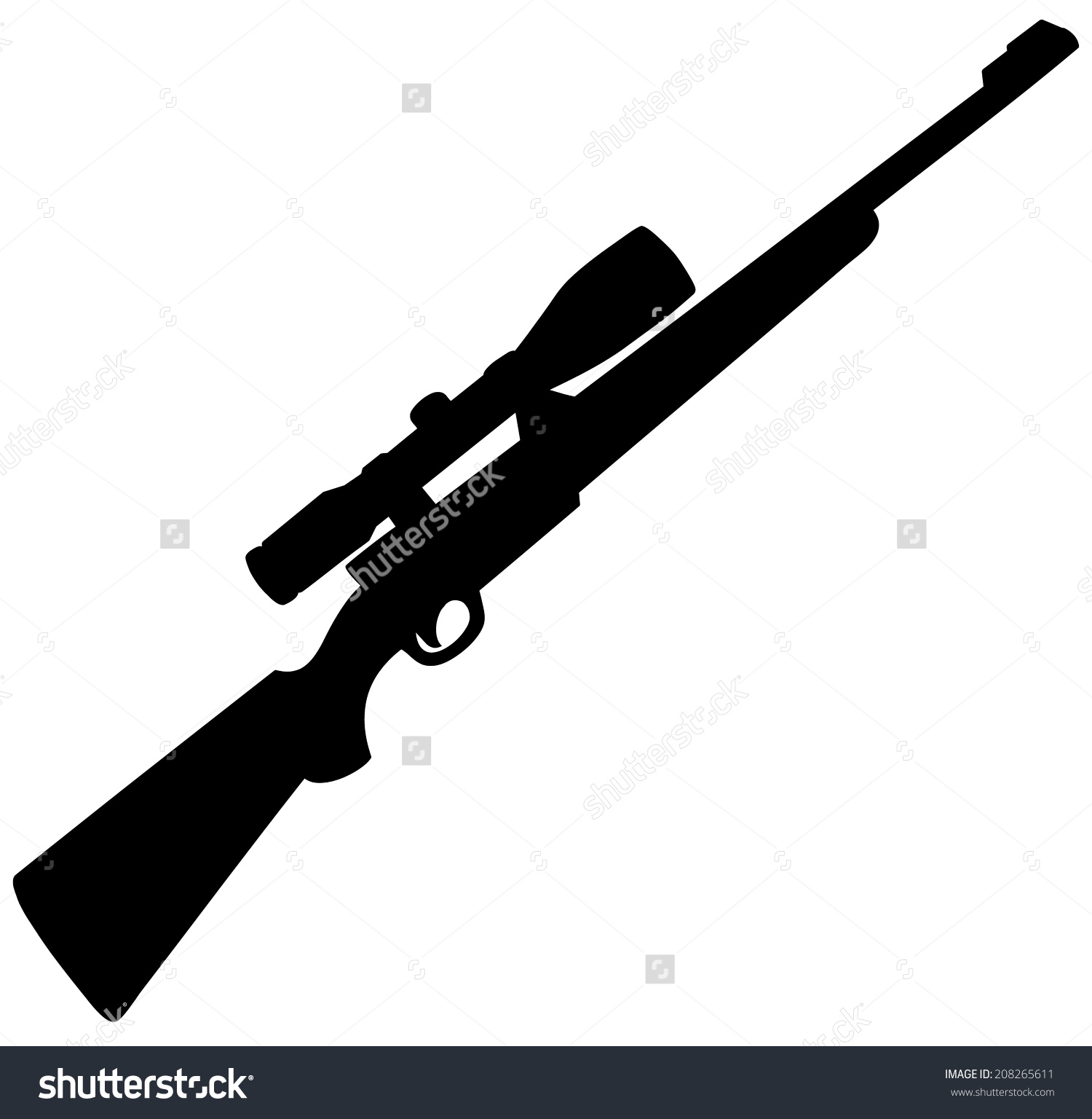 Hunting clipart hunting rifle #9