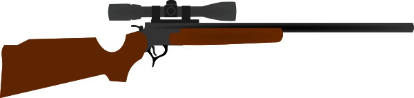 Sniper clipart hunting rifle As: With clip Download com