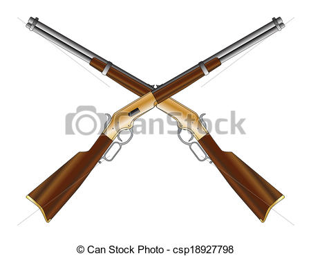 Rifle clipart logo EPS as a rifle typical