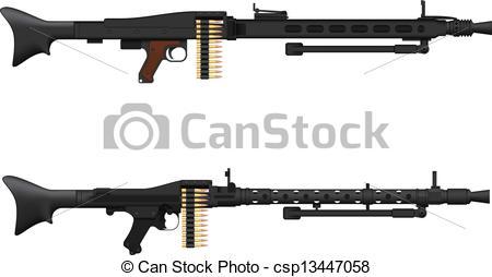 Assault Rifle clipart machine gun #6