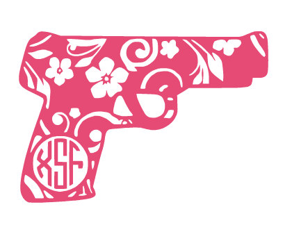 Rifle clipart pink #11
