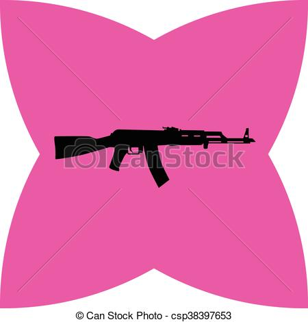 Rifle clipart pink Clip csp38397653  rifle of