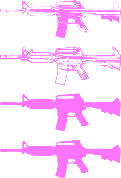Rifle clipart pink #3