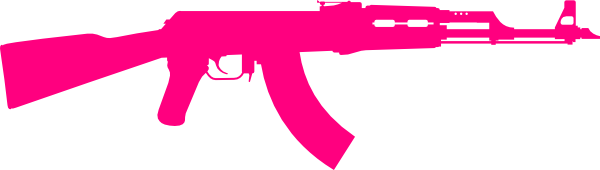 Rifle clipart pink Online Clip One at clip