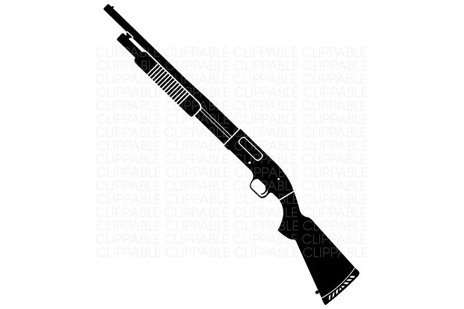 Rifle clipart pump shotgun  Graphics Instant Digital Clip