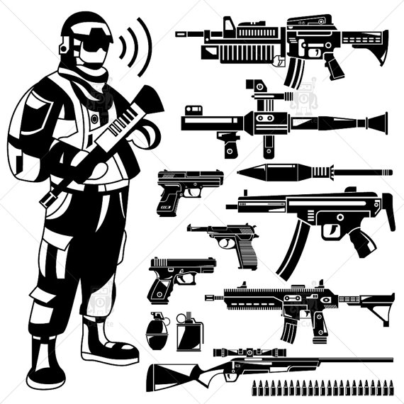 Soldier clipart commando On rifle Commando Police DeCute