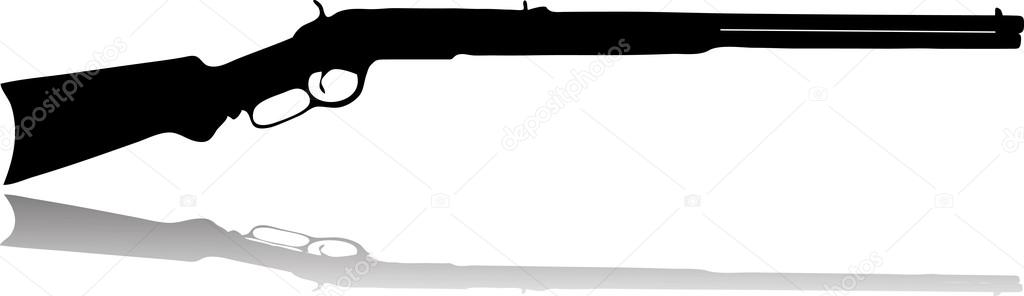 Rifle clipart silhouette Silhouette Stock #19424557 — Vector