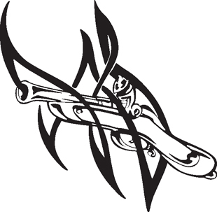 Rifle clipart tribal Weapons decal MILITARY & decal