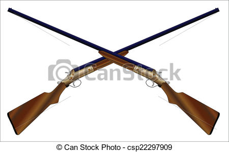 Rifle clipart two gun Two a 12 of over