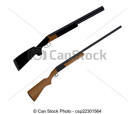 Rifle clipart two gun Vector Art a for Clip
