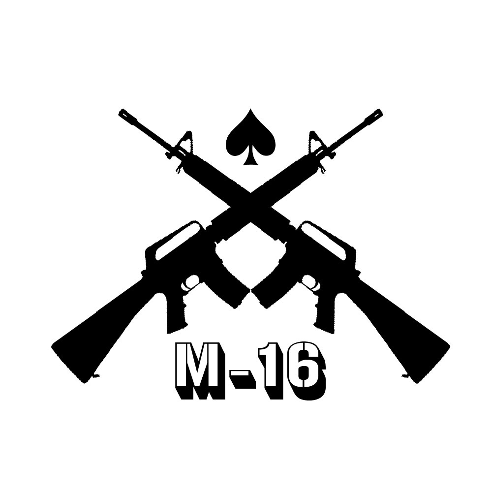 Assault Rifle clipart m16  clipart Civil Collection crossed