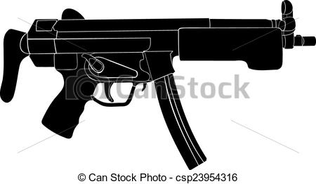 Rifle clipart weapon #7