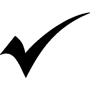 Check clipart black and white Collection check symbol Clipart mark