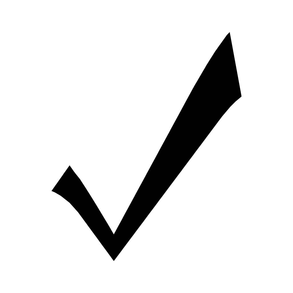 Check clipart black and white Art Symbol Download Free Check