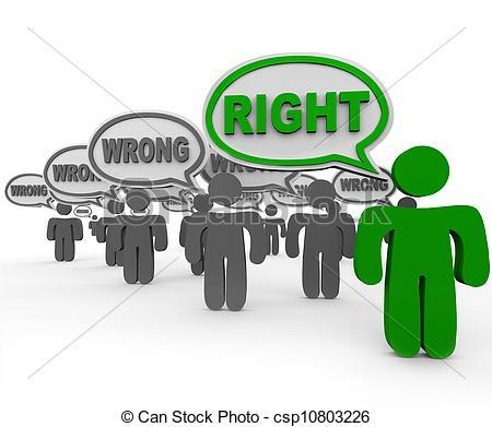 Right clipart correct Many Vs Person Correct of