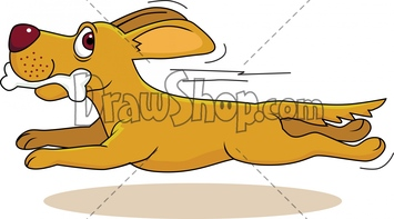 Right clipart dog running Watermark Commerciel Free designs Use