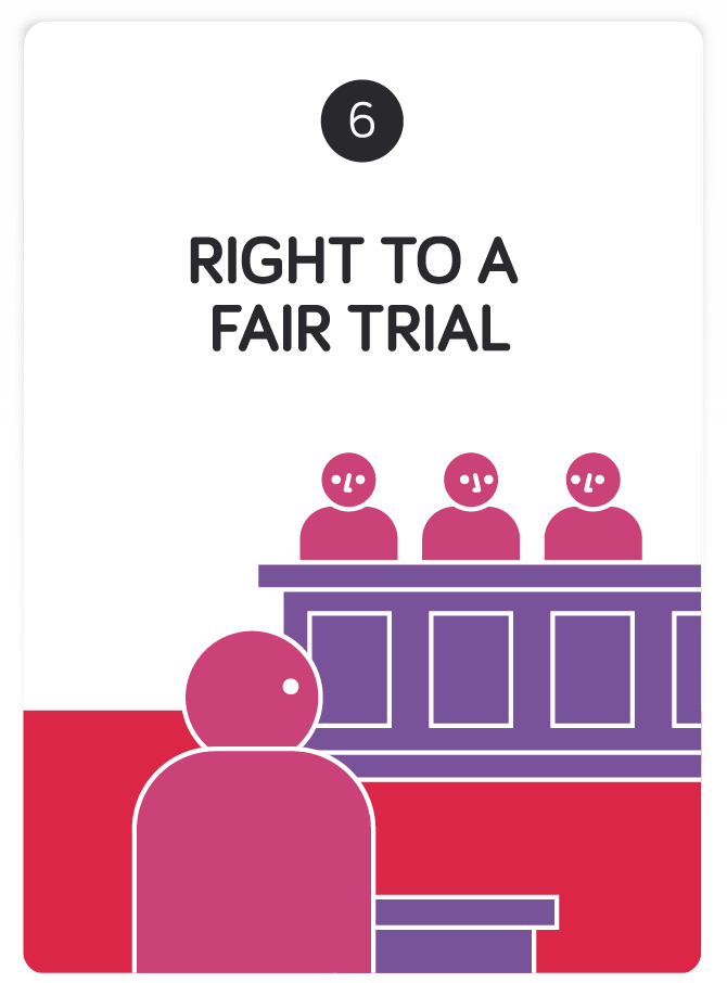 Right clipart fair trial Convention to Right on a