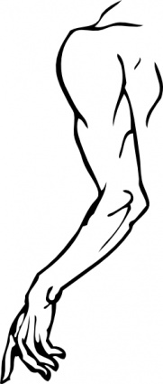 Right clipart left arm Outline Clipart  And Art