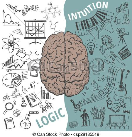 Right clipart left brain Art concept concept Human and
