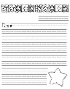 Right clipart letter paper And stars lined printable primary