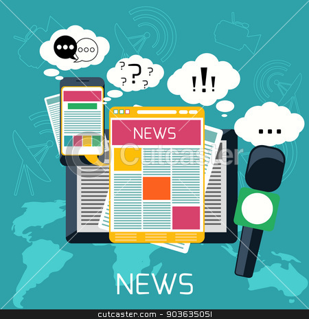 Right clipart mass Media concept radio radio newspaper