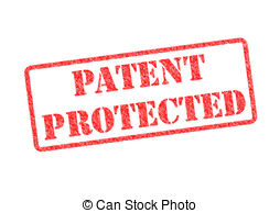Right clipart patent PROTECTED stamp over red Patent