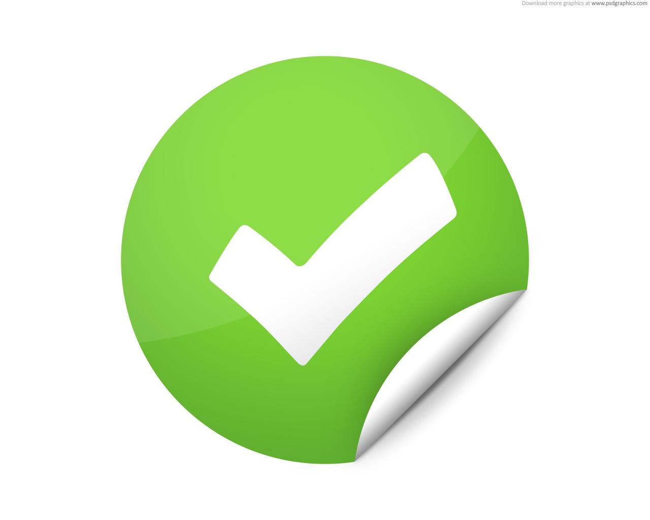 Check clipart correct Free check Green  Check