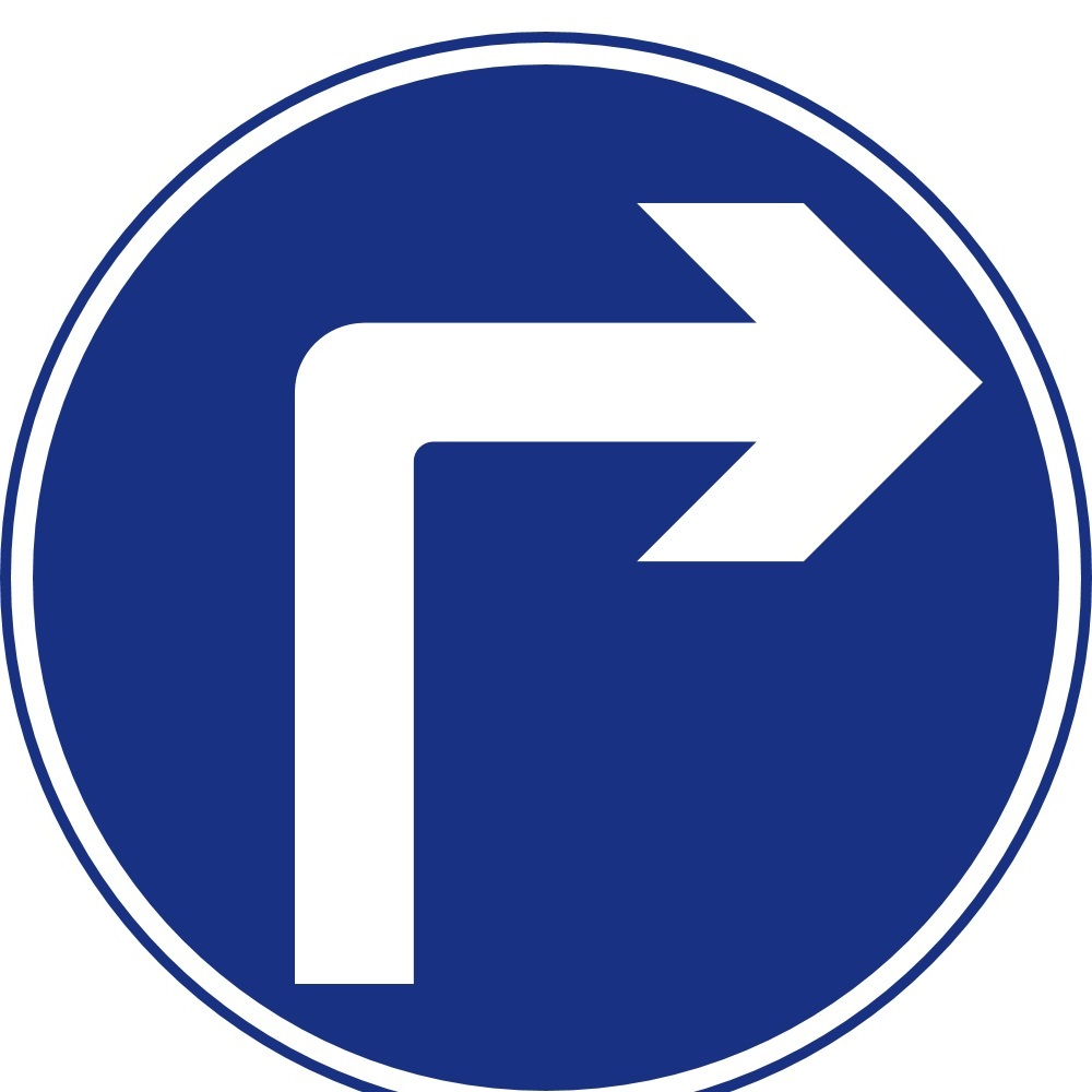 Right clipart road sign Lessons right ahead ahead road