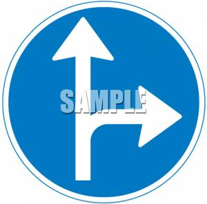 Right clipart road sign Or Sign Royalty Turn Straight