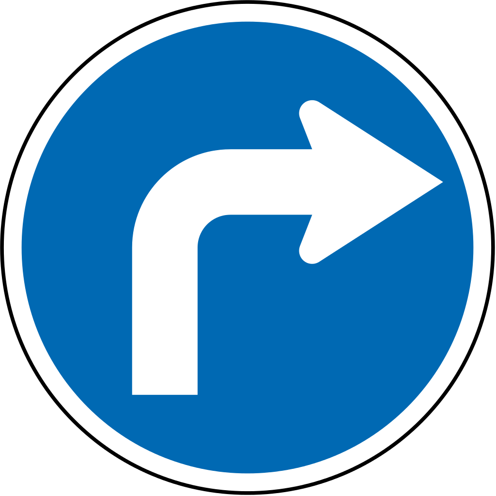 Right clipart road sign Wikimedia File:New Zealand road R3