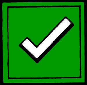 Check clipart correct Symbols (6393 Perfect World Clip